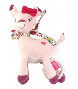 Doudou Biche rose Peluche Musicale 20 cm Babysun