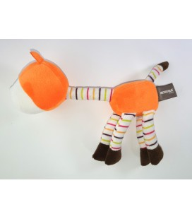 Doudou cheval orange blanc marron Orchestra 28 cm