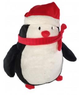 Doudou peluche Pingouin Bonnet Echarpe Orchestra 30 cm