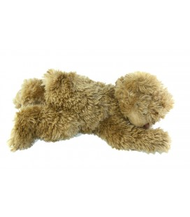 Peluche Ours beige marron clair Louise Mansen allongé 40 cm