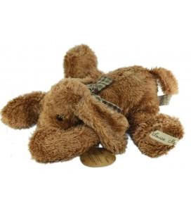 Peluche chien marron roux couche allonge 30 cm Louise Mansen