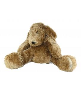 Peluche chien marron roux couche allonge Gd Mod. 50 cm Louise Mansen