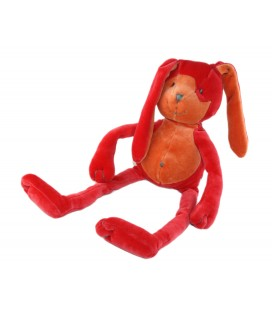 Doudou Lapin orange rouge Marese 36 cm