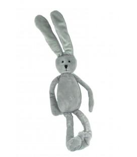Grand doudou lapin gris Monoprix 55 cm oreilles levees Gar Tai Fly