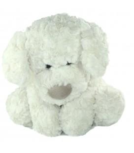 Doudou peluche chien blanc Monoprix 32 cm