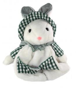 Peluche doudou Range Pyjama Lapin blanc vert 50 cm Nounours