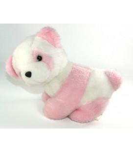 Peluche doudou Panda Chat blanc rose 25 cm Nounours