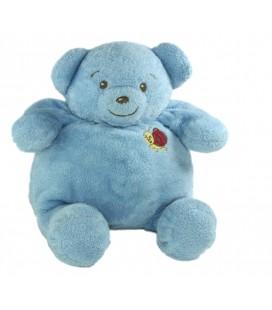 Peluche doudou Ours bleu Coccinelle 22 cm Nounours