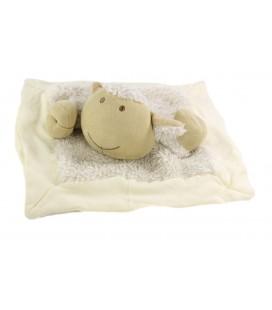 Doudou Mouton agneau blanc beige Fourure Nature et Decouvertes