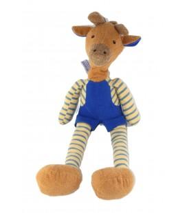Peluche doudou Girafe bleu jaune Marron 52 cm Nounours