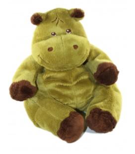Peluche doudou Hippopotame vert marron brun 32 cm Nounours