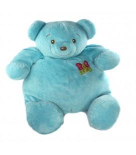 Doudou peluche Ours bleu papillon Nounours Gd Mod 35 cm