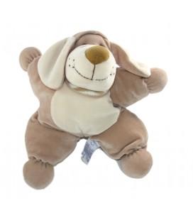 Doudou Coussin chien beige grelot 25 cm Nounours