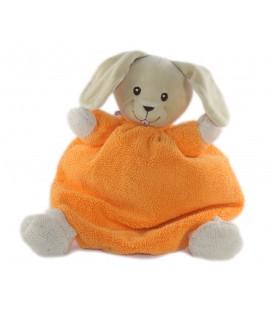 Peluche doudou Lapin orange Fluo 30 cm Nounours