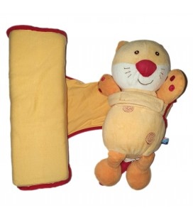 Doudou Cale Bebe Chat orange Sucre d Orge