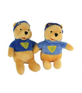 Lot de 2 - Doudou Winnie Superman 22 cm Disney Nicotoy 587/6913