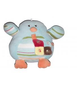 Peluche Doudou Oiseau bleu 16 cm Sucre d Orge