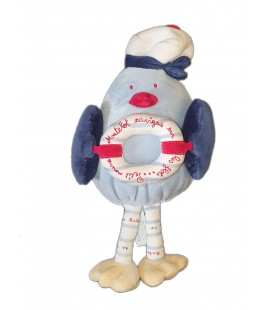 Doudou Pingouin Matelot bouee 24 cm Sucre d Orge
