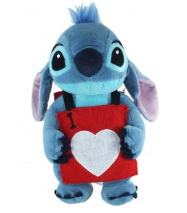 Doudou peluche Stitch 35 cm Carte As de Coeur Alice I Love You Disney Disneyland Resort