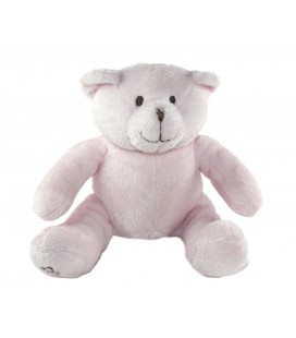 Doudou Ours rose assis 15 cm OBAIBI