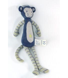 Doudou Singe bleu Etoile 35 cm OBAIBI
