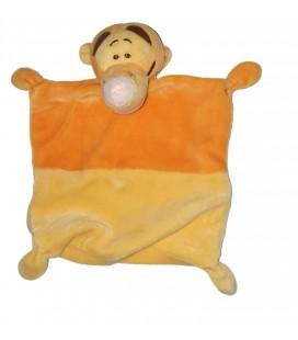 Doudou plat Tigrou jaune orange Disney Nicotoy Carrefour