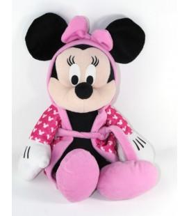 Peluche doudou Minnie Peignoir rose 40 cm Disney Nicotoy