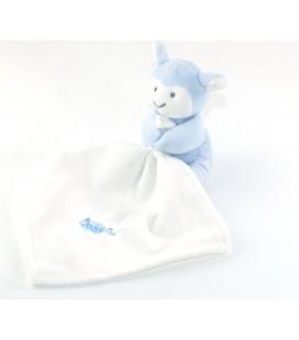 Doudou Mouton Agneau bleu Mouchoir blanc Baby Nat BN958
