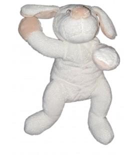 Doudou chien blanc beige allonge 25 cm Jours Heureux