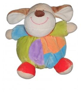 Doudou chien multicolore Boule Eddy Toys 18 cm