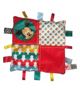 Doudou plat Mickey rouge Etiquettes Nicotoy 587/3823