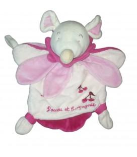 DOUDOU ET COMPAGNIE Marionnette SOURIS rose fushia Cerise Maman