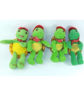 Lot de 4 petites peluches Franklin la Tortue 20 cm