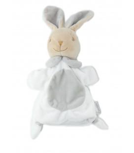 Doudou Marionnette Lapin blanc beige Mes Petites Cailloux