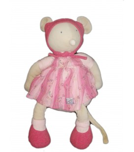 MOULIN ROTY - Grand Doudou Souris rose Lila Patachon 50 cm