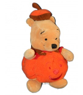 COLLECTOR - Peluche WINNIE Déguisé en Citrouille Halloween H 22 cm Pumkin Pooh Plush Disney Store London