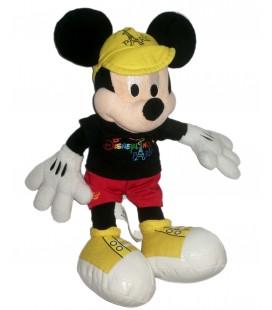 Peluche Doudou Mickey Disneyland Paris Tour Eiffel 32 cm Casquette jaune