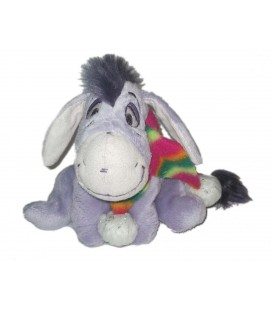 Peluche Doudou Bourriquet Echarpe Multicolore Eeyore s Littles Moments 14 cm Disney Carte Blanche