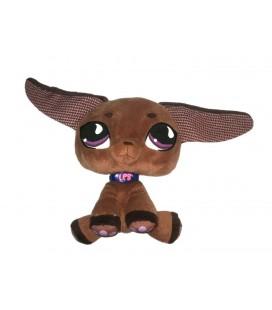 Doudou peluche Chien marron Longues oreilles 22 cm LPS Littlest Petshop Hasbro