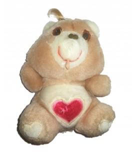 Peluche doudou Vintage Ancien Bisounours 16 cm Grosbisou Coeur Kenner Care Bears