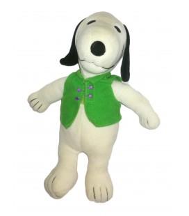 Vintage Peluche Snoopy Gilet vert Ajena 30 cm