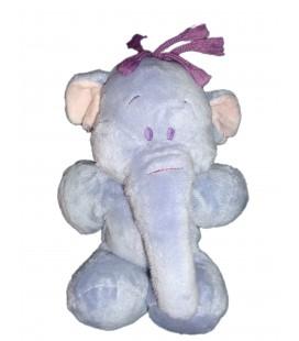 Doudou peluche Floppy LUMPY Elephant mauve Disney Nicotoy 28 cm 587/4074