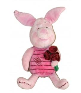 Peluche Doudou Porcinet Bouquet de roses Disney Nicotoy 35 cm 587/5569