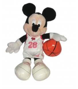 Peluche doudou Mickey Basketeur High School Musical Disney Disneyland Paris 26 cm