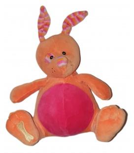 Peluche doudou Chien Cocard rose orange Os Kangourou Lapin 20 cm