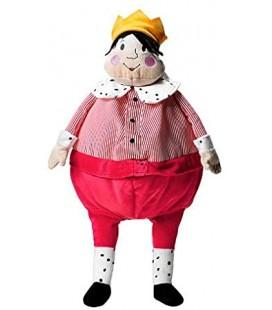 Peluche Roi IKEA Gullgosse rouge coeur couronne 45 cm