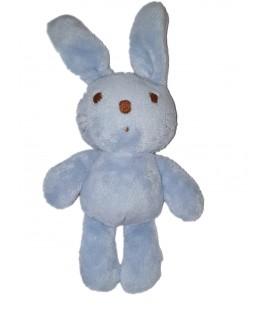 Doudou Lapin bleu marron Baby Gap 25 cm