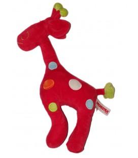 Peluche doudou Girafe rouge Orchestra 32 cm