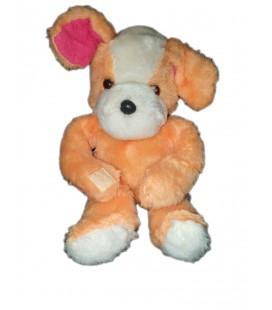 Ancienne peluche Doudou chien orange blanc Scratchs 28 cm Nounours