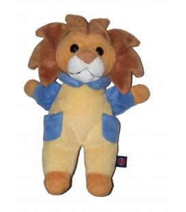 Peluche Doudou Lion bleu jaune Trudi 24 cm